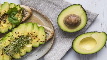 Avocado on toast with cress